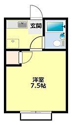 愛知県豊田市丸根町3丁目の賃貸アパートの間取り