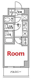 JR東海道本線 横浜駅 徒歩7分の賃貸マンション 4階1Kの間取り