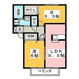 コートアフィニティ[1階]の間取り