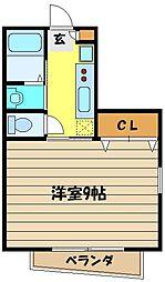 ニューオータム[2階]の間取り