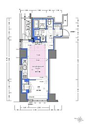 JR山手線 神田駅 徒歩4分の賃貸マンション 4階1LDKの間取り