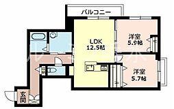 カーサグラスB[1階]の間取り