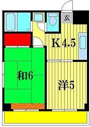 クロシェット松戸[3階]の間取り