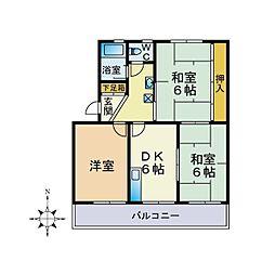 中山コーポ[2階]の間取り