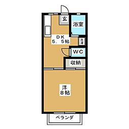 サンシャインW D[2階]の間取り