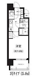 Osaka Metro谷町線 谷町六丁目駅 徒歩8分の賃貸マンション 6階1Kの間取り