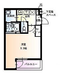 フジパレス堺北花田III番館[2階]の間取り