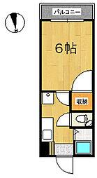 エクセランス・ド・花京院[1階]の間取り