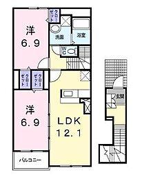 フォーリストベル[2階]の間取り