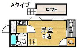 JPアパートメント住之江[2階]の間取り