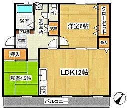 名瀬マンション(ナセマンション)[3階]の間取り