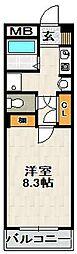 エクロル売布[3階]の間取り