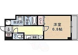 Ferio フェリオ 4階1Kの間取り