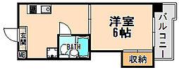 兵庫県伊丹市伊丹5丁目の賃貸マンションの間取り