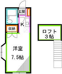 ニューつづみハイツ[2階]の間取り