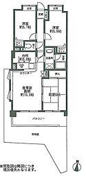 ライオンズマンション博多南第二[1階]の間取り