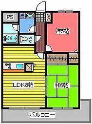 西川口パインマンション2[7階]の間取り