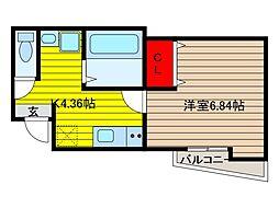 ステージ鳩ヶ谷本町[1階]の間取り