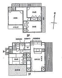 京王線 聖蹟桜ヶ丘駅 徒歩8分 4LDKの間取り