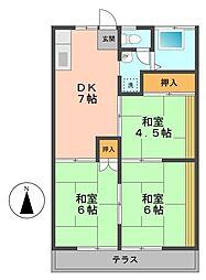 桜ビラ[B107号室]の間取り