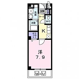 ロクレール[105号室号室]の間取り
