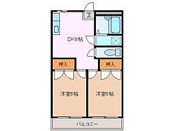 TOMS HOUSE[1階]の間取り