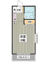 ニューアローズMI[2階]の間取り