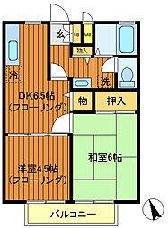 ドエルムサシノ[2階]の間取り