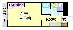 福岡県福岡市博多区空港前3丁目の賃貸マンションの間取り
