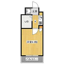 ジュネス東山[2階]の間取り