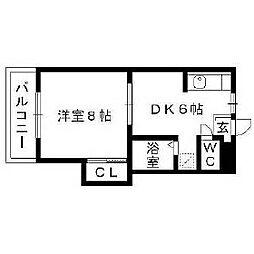 福岡県久留米市東合川新町の賃貸マンションの間取り