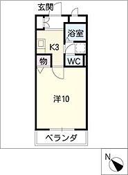 クレセールミユキ[1階]の間取り
