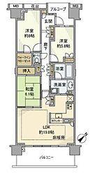 グランドメゾン東戸塚2番館(グランドメゾンヒガシトツカ2バンカ[2階]の間取り