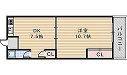 GS阿倍野[306号室]の間取り