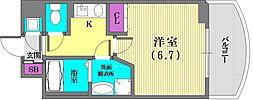 アスヴェル神戸元町[202号室]の間取り