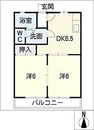 サンコーポNo.12[1階]の間取り