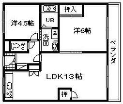共立マンション小松里[108号室]の間取り
