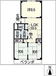 サンホーム愛宕[4階]の間取り