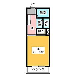 ミノタハイツ出川III[2階]の間取り