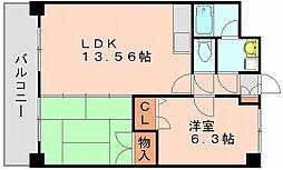 コージーコートハカタ[3階]の間取り