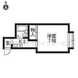 ステーションマンション[302号室]の間取り