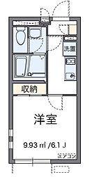 JR中央本線 日野駅 徒歩10分の賃貸アパート 2階1Kの間取り