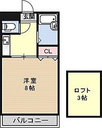メゾンベルジュール[403号室号室]の間取り