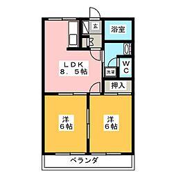 パールガーデン[1階]の間取り
