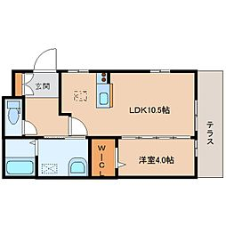 奈良県奈良市南魚屋町の賃貸アパートの間取り