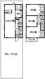 [テラスハウス] 大阪府岸和田市尾生町5丁目 の賃貸【/】の間取り