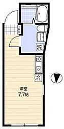 仮称)世田谷区池尻4丁目計画 2階ワンルームの間取り