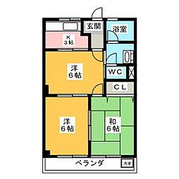 アーバンヒルズT1[2階]の間取り