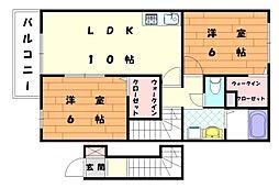 プティアンジュIII[2階]の間取り