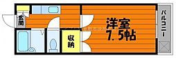 岡山県倉敷市下庄丁目なしの賃貸アパートの間取り
